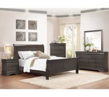 Phillipe Queen 4pc. Bedroom set in grey