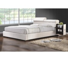 Max Queen Platform Bed with pull out Drawers & Adjustable Headboard