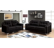 Glenda 2pc. Sofa and Loveseat in black