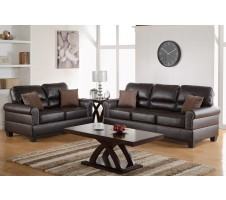 Pisa Sofa and Loveseat set in espresso