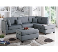 Courtney 2pc. Sectional and Ottoman in grey