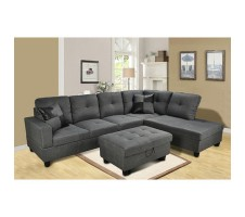 Della 2pc. Sectional and Storage ottoman