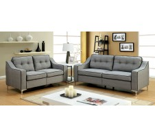 Glenda 2pc. Sofa and Loveseat in  grey