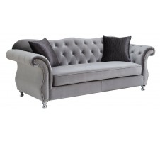 Frostine Glamour Sofa with Crystal Button Tufting