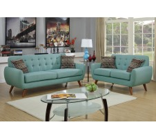 Vogue Sofa and Lovseat set- sky blue