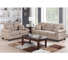 Pisa 2pc Sofa and loveseat in sand