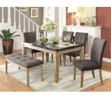 Heron 6pc. Dining set =in oak finish