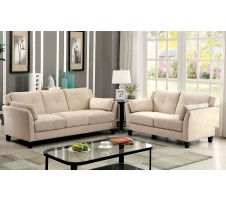Ysabel  2 pc Sofa and Loveseat in beige
