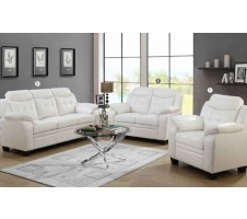 Finley 2pc. Sofa and Loveseat in White