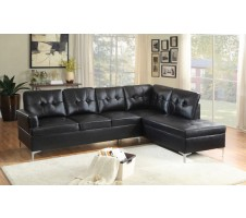 Barrington Sectional in black