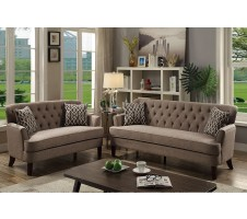 Amelia 2pc. Sofa and Loveseat in Mocha