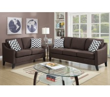 Matera 2pc. Sofa and Loveseat in chocolate