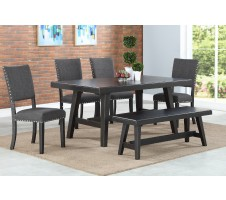 Camden 6pc. Dining set with Bench in Espresso