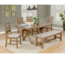 6-Pcs XOCHIL Weathered Natural Tone Dining Set