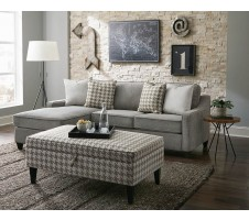 Montgomery Sectional Sofa with Storage Ottoman