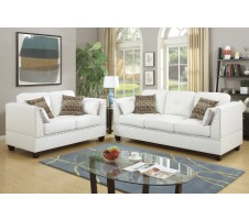 Soria 2pc. Sofa and Loveseat in white
