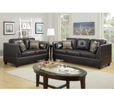 Casoria 2pc. Sofa and loveseat in espresso