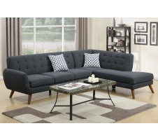 Uptown Sectional in Ash black
