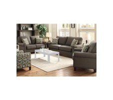 Noelle 2pc. Sofa and Loveseat set in grey