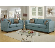 Casoria 2pc. Sofa and Loveseat in Hydra Blue
