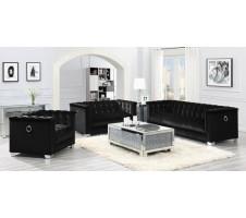 Chaviano Sofa in Black Velvet
