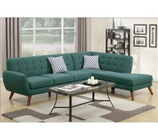 Uptown Sectional in teal