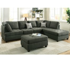 Lexi 2pc. Sectional dark grey