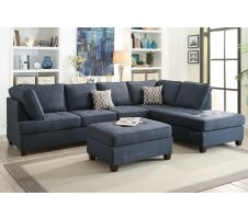 Lexi 2pc. Sectional in dark blue