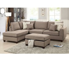Cleveland Sectional & Storage Ottoman in Mocha