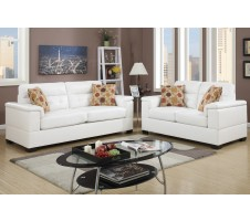 Melston 2pc. Sofa and Loveseat in white