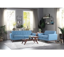 SALE! Rittman 2pc Sofa & Loveseat Set in Blue