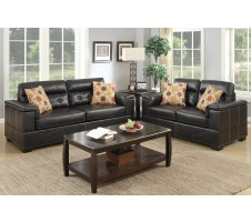 Melston Sofa and Loveseat in espresso
