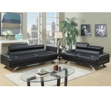 Luminar Sofa and Lovseat with storage in black