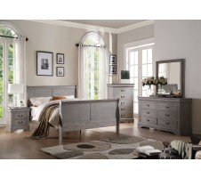 Louis Phillipe III 4pc. grey Bedroom set in grey