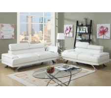 Luminar Sofa and Loveseat  with storage in white