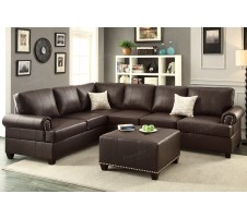 Brent 2pc. Sectional Sofa in esprsso
