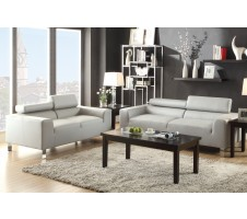 Eclipse Sofa and Loveseat - light grey