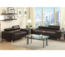 Eclipse Sofa and Loveseat - espresso