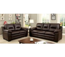 Parma 2pc. Sofa and Loveseat in Dark Brown