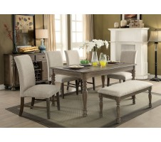SIOBHAN II 6pc. Dining set with BENCH