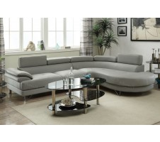 Brooks 2pc. Modern Sectional in grey