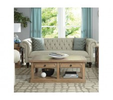 Victoria Tufted Beige Sofa