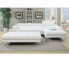 Cleavon 2pc. Modern Sectional in white