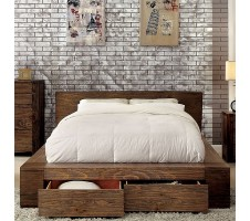 Rio Platform Bed with Drawers