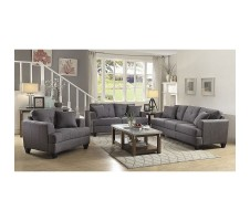 Hunter 2pcs Sofa and Loveseat set in grey