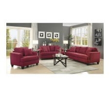 Hunter 2pcs Sofa and Loveseat set in red