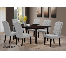 Venice 7pc. Dining set with butterfly Leaf