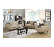 Stephan Mid Century Modern Sofa and Loveseat set