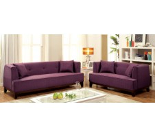 Enez Sofa and Loveseat in purple