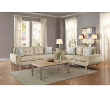 Moriah Sofa and Loveseat set in beige